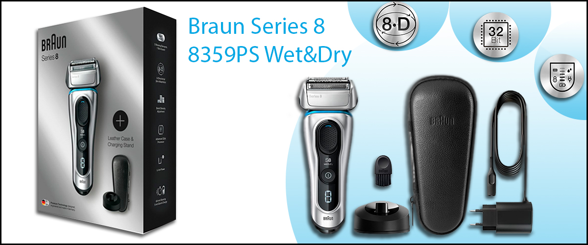 Огляд бритви Braun Series 8 8359PS Wet&Dry