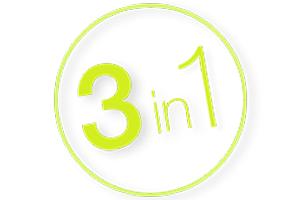 3 в 1 – триммер, бритва, стайлер